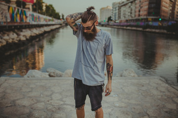 HIpster young man