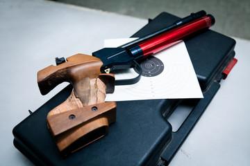 Compressed Air Gun And Target
