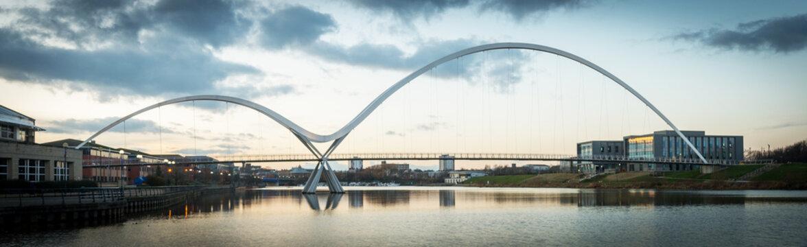 Infinity bridge, Stockton on Tees, Cleveland, UK