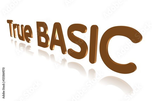 Programming Term - True BASIC - Programming Language - 3D