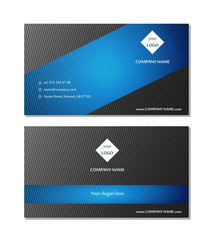Template layout for business card vector