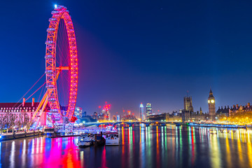 The Big Ben and the London Eye, London, UK