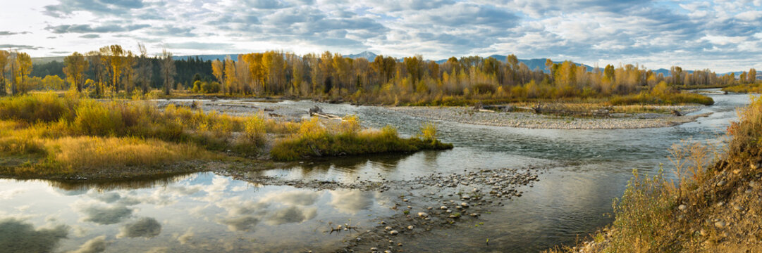 Gros Ventre river Wyoming Fall colors