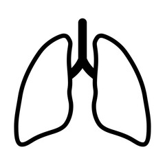 Human lung / pair of lungs line art vector icon for app and website