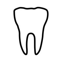 Tooth / molar or dentistry line art vector icon for dental app and website
