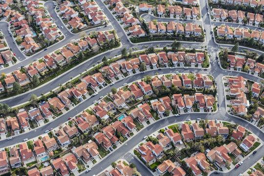Los Angeles Suburban Neighborhood Aerial