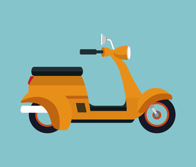 yellow motorcycle scooter vector illustration eps 10