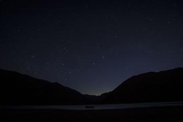 night sky on the lake