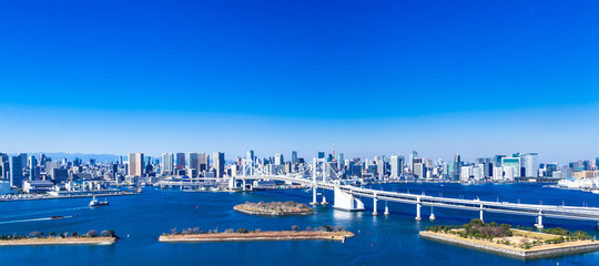 レインボーブリッジと東京ベイエリア