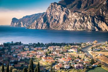 Town of Riva del Garda, Lake Garda, Italy. Wall mural
