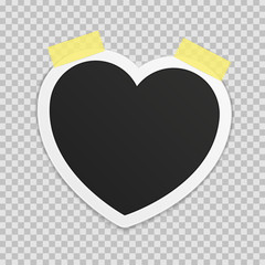 Photo frame heart.