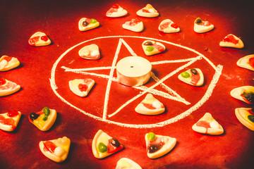 Pedogate pentagram