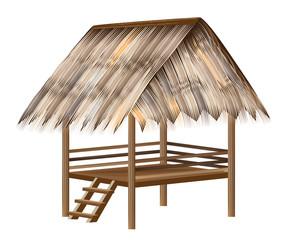 straw roof hut vector design