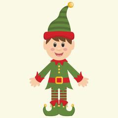 Christmas Elf Holiday Vector Illustration