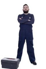 Bearded man mechanic