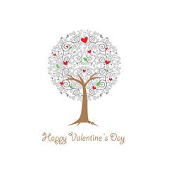 heart tree vintage card