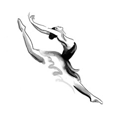 Dancing ballerina sketch