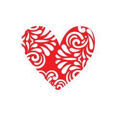 heart shape vintage design