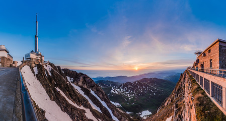 Sunrise on Pic du Midi, France