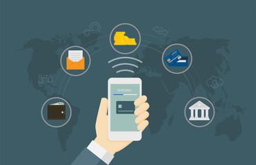 Online Money Transaction Concept
