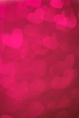 Hearts Bokeh Background ./ Valentine's day background