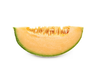 Single slice of a melon