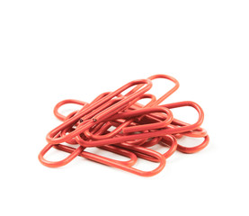 Pile of office clips isolated