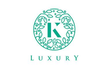K Letter Logo Luxury.Beauty Cosmetics Logo