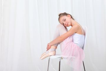 young girl ballerina