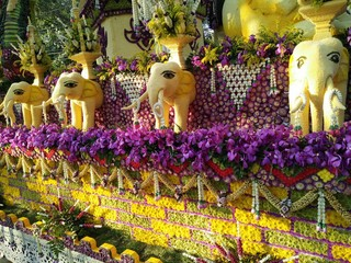Elephant decorative inThailand flower festival