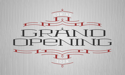 Grand opening vector illustrationbanner