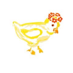 easter chick isolated