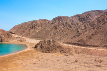 Sea & mountain View of the Fjord Bay in Taba, Egypt / The amazing view of the Sea & mountain of the Fjord Bay in Taba, Egypt