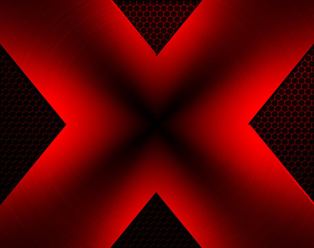 x design with mesh background