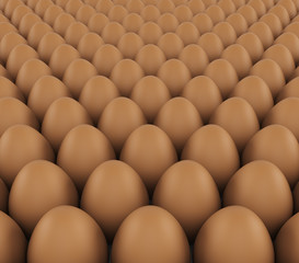 background of fresh eggs for sale. 3d render