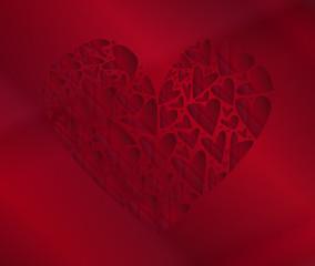 Dark Red Heart Background