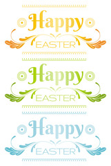 Happy Easter text lettering. Holiday modern flat logo, isolated on white background. Elegant vector illustration.