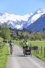 entspannte Tour mit Fahrrad rund um Oberstdorf im Allgäu