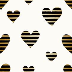 Striped Hearts Pattern