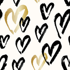 Hand Painted Hearts Pattern