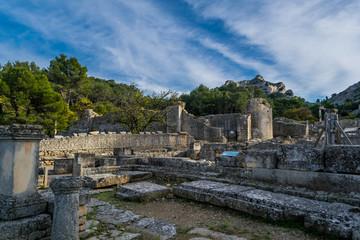 Glanum, les antiques, Saint-Rémy de Provence, France.