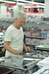 mature man on shopping