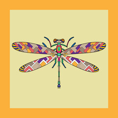 Vector illustration of a dragonfly