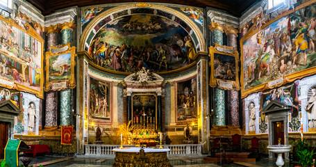 Basilica of San Vitale in Rome, Italy Wall mural
