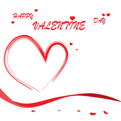 Happy valentine day. Vector illustration of valentine day