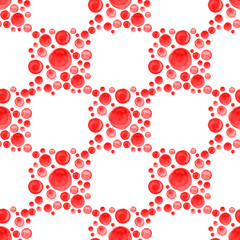 Geometric pattern with dotted watercolor squares.