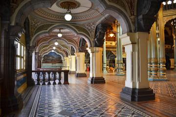 Interior of Mysore palace, India