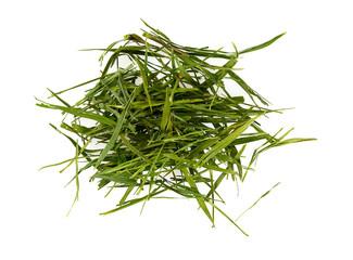 bamboo leaf tea isolated on white background