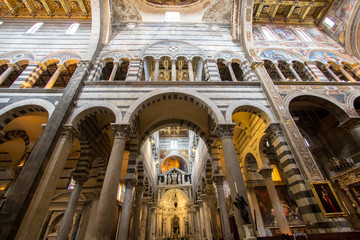 Pisa cathedral interior view, Italy