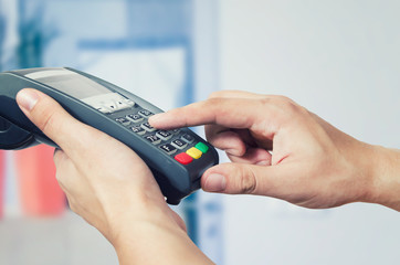 Credit card swipe through terminal for sale